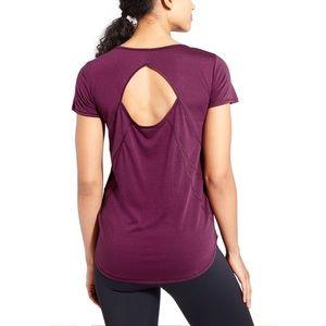 Athleta Repetition Tee Top Plum Purple S